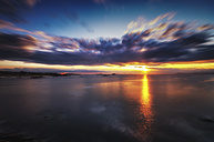 United Kingdom, Scotland, East Lothian, North Berwick, Firth of Forth, Sunset - SMAF000418