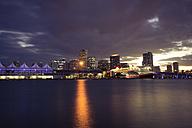 USA, Miami, view to the skyline at twilight - CHPF000212