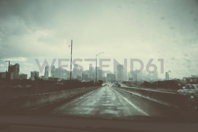USA, Miami, view to the skyline at rainy day - CHPF000215
