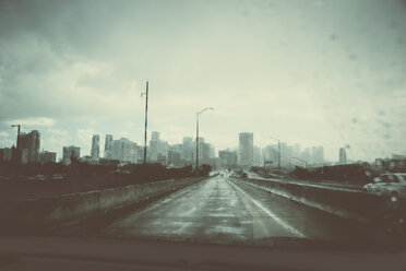 USA, Miami, view to the skyline at rainy day - CHPF000215