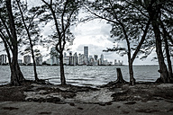 USA, Miami, view from Key Biscayne to Miami skyline - CHPF000218
