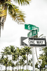 USA, Miami, road sign of Ocean Drive - CHPF000221