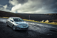 Ireland, Highland Region, parked car and street - STCF000157