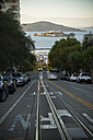 USA, California, San Francisco, Hyde Street, San Francisco Bay and Alcatraz Island - STCF000178