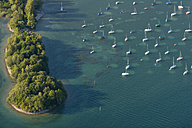 Germany, Lake Constance, Aerial view, Immenstaad, Bird islands at Dornier Mole - SHF001817