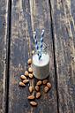 Glass bottle of almond milk - CSF027039