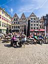 Belgium, Flanders, Ghent, Corn market, pavement cafe - AM004736