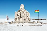 Bolivia, Atacama, Altiplano, Salar de Uyuni, Dakar monument - GEMF000693