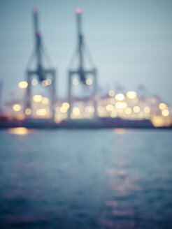 Germany,Hamburg, Port of Hamburg, Container Terminal, blurred - KRP001708