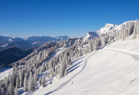 Germany, Upper Bavaria, Lenggries, ski area at Brauneck - SIEF006939