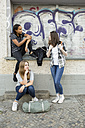 Three teenage girls hanging around - OJF000105