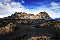 Iceland, Stokksnes, Vestrahorn Mountains, black sand beach - SMAF000426