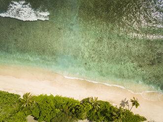 Seychelles, La Digue, East coast,Anse Fourmis, Beach, Aerial view - FOF008407