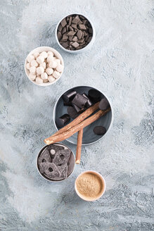 Bowls of liquorice roots and different licorice products - MYF001342
