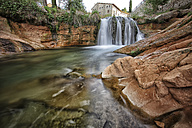 Spain, Aragon, Province of Teruel, Waterfall, upper reaches of rivers as the Matarrana, Ulldemo or Algars - DSGF000890