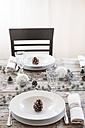 Laid table at Christmas time - LVF004529