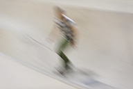 Blurred skateboarding man - SKCF000055
