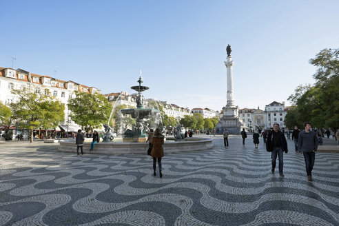 Portugal, Lisbon, view to Rossio Square - HL000945