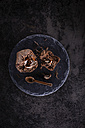Chocolate muffin with liquid core and chocolate spoon - KSWF001742