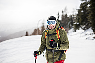 Austria, Turracher Hoehe, portrait of skier - DAWF000512
