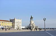 Portugal, Lisboa, Baixa, Praca do Comercio, Equestrian Statue Jose I - HLF000946