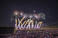 Germany, Hannover, international fireworks competition at Herrenhausen Gardens - PVCF000769