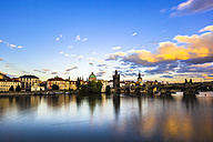 Charles Bridge and Vltava River in Prague in summer - GIOF000759
