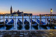 Italy, Venice, view to San Giorgio Maggiore at morning twilight - HAMF000158