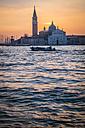 Italy, Venice, view to San Giorgio Maggiore at morning twilight - HAMF000161