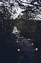 Romantic camp in autumnal nature at twilight - MJF001737