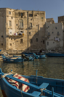 Italy, Apulia, Monopoli, Harbour and fishing boat - KAF000136