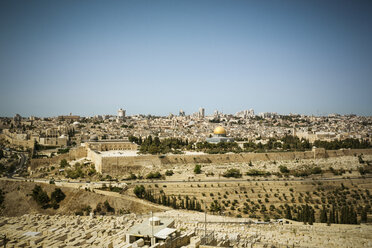 Israel, Jerusalem, cityscape with Dome of the Rock - REAF000067