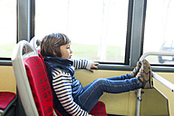 Little boy going by bus - VABF000173