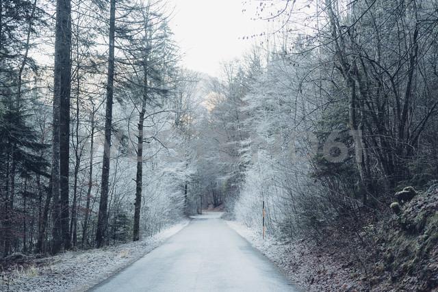 Germany, Bavaria, Berchtesgadener Land, road in winter - MJF001745 - Jana Mänz/Westend61