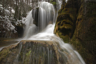 Spain, Cuenca, Waterfall at River Cuervo - DSGF000976
