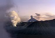 Indonesia, Java, Volcanos Bromo, Batok and Semeru in evening light - DSGF000997