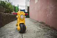 Yellow toy motorbike - RAEF000907