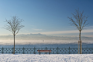 Germany, Friedrichshafen, Castle jetty at Lake Costance in winter - SH001893