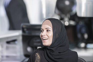 Middle Eastern businesswoman in office, portrait - ZEF008595