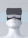 Dummy with Virtual Reality Glasses, 3D Rendering - UWF000780