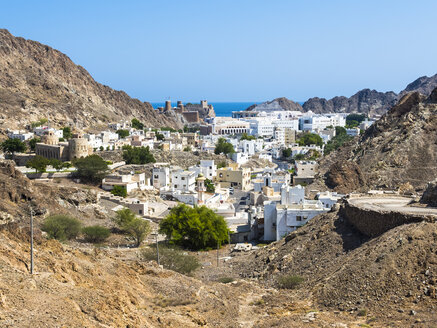 Oman, Muscat, Old town, Fort Mirani and Fort Al-Mirani - AMF004800
