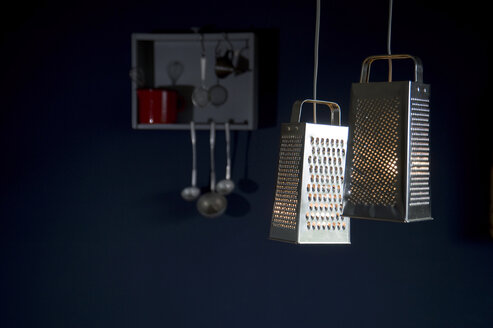 DIY, lamps, made of grater, kitchen utensils - GISF000199