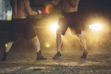 Two boxers fighting in an abandoned factory - MADF000836