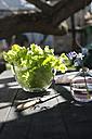 Glass bowl of leaf salad - DEGF000673