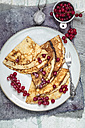 Crepes with red currents on plate - SBDF002698