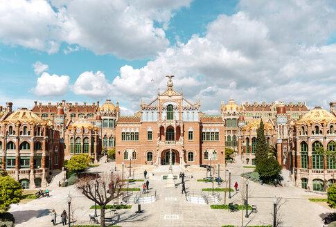 Spain, Barcelona, view to Sant Pau Art Nouveau Site - GEMF000776
