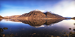 Scotland, Highlands, Loch Etive with snow-covered Ben Starav in the background - SMAF000445