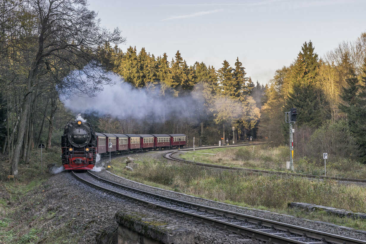 Germany, Saxony-Anhalt, Harz National Park, Harz Narrow Gauge Railway in autumn - PVCF000793 - Patrice von Collani/Westend61