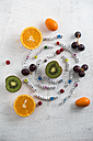 Fruits, orange, kiwi, grapes, currant and kumquat, different vitamins - MYF001390