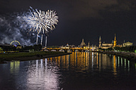 Germany, Dresden, firework, old town festival - PVCF000807